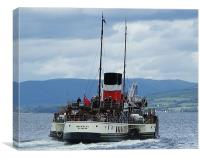 The Waverley Paddle Steamer, Canvas Print