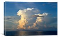 Explosion of cloud in evening., Canvas Print
