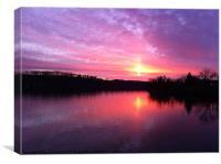 Majestic Pink Sunset, Canvas Print