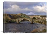 Pont Fawr, Llanwrst, Canvas Print