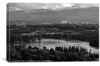 Menai Straits Suspension Bridge, Anglesey, Canvas Print