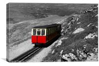 The Snowdon Mountain Railway, Canvas Print