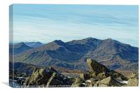 The Snowdon Horseshoe, Canvas Print