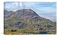 Crib Goch Profile, Canvas Print