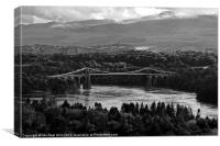 Menai Suspension Bridge, Canvas Print