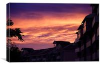 Sky over the suburb, Canvas Print