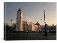 Good morning, Vilnius!, Canvas Print