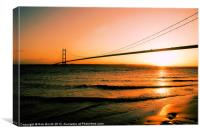 Sunset on The Humber, Canvas Print