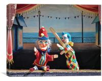 Punch and Judy Puppet Show, Canvas Print
