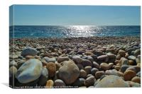 Pebbles on the Beach, Canvas Print