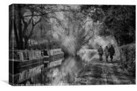 Worcestershire Canal, near Kidderminster, Canvas Print