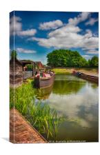 Black Country Museum & Birmingham Canal, Canvas Print