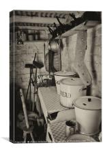 Victorian Kitchen, Black Country Museum, Canvas Print