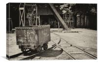 Coal Mining, Black Country Museum, Canvas Print