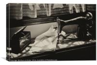 Sewing Machine, Black Country Museum, Canvas Print