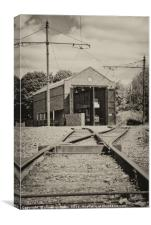 Tram Lines, Black Country Museum, Canvas Print
