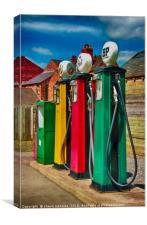 Petrol Pumps, Black Country Museum, Canvas Print
