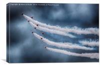 RAF Red Arrows Display Team, Canvas Print