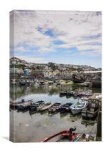Brixham Harbour, Devon, Canvas Print