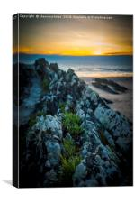 Rocks On Croyde Bay Beach, Canvas Print