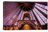 Sainte Chapelle interior, Canvas Print