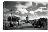 Pont des Arts in Paris, Canvas Print