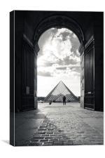 Louvre pyramid, Canvas Print