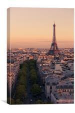 Eiffel Tower sunset, Canvas Print
