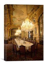 Louvre interior, Canvas Print