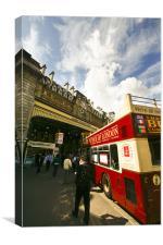 Double-decker bus in London, Canvas Print