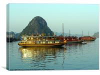 Sunrise in Halong Bay, Vietnam, Canvas Print
