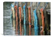 Ropes on a quay, Canvas Print