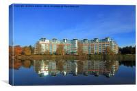River Crescent Apartment Building, Canvas Print