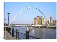 Newcastle Quayside in the Sun!, Canvas Print