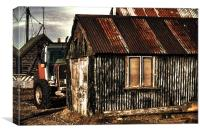Tractor & Shed, Canvas Print