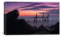 Happisburgh Sunrise, Canvas Print