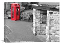 Red Telephone Box #15, Canvas Print