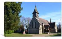 village church in essex, Canvas Print