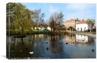 writtle village duckpond, Canvas Print
