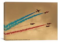 raf red arrows team, Canvas Print