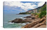rugged coastline of Rio, Canvas Print
