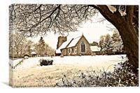 all saints church springfield essex, Canvas Print