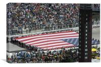American Flag Held At Bristol, Canvas Print
