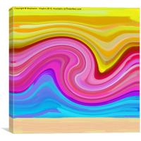Sunset Swirl, Canvas Print