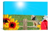The Dog Days of Summer, Canvas Print