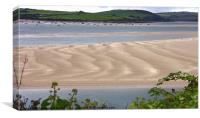 LOW TIDE TO PADSTOW HARBOUR, Canvas Print