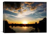 Loire Sunset, Canvas Print
