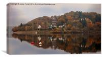 Reflections on Lake Eguzon, Canvas Print