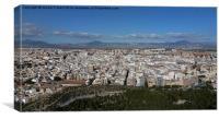 Alicante Cityscape, Canvas Print