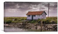 Oyster Shack Ile de Re, Canvas Print